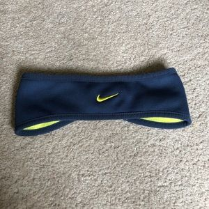 Nike Navy and yellow headband earmuffs winter